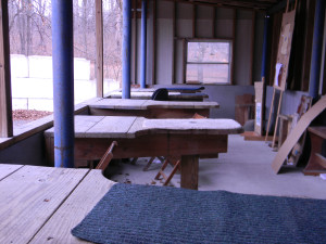 BRCVR&GC rifle house - outdoor benches